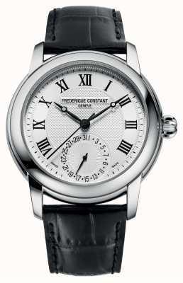 Frederique Constant Men's Classic Automatic | Black Leather Strap | Silver Dial FC-710MC4H6