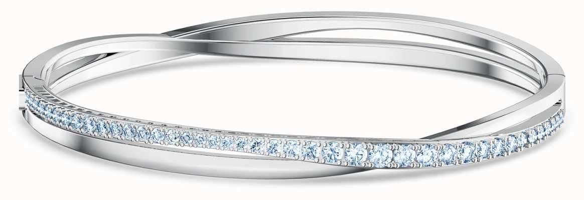 Swarovski Twist | Rhodium Plated | Bangle | Blue 5582810