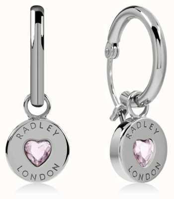 Radley Jewellery Sterling Silver Heart Disc Huggie Earrings RYJ1135