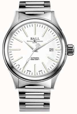 Ball Watch Company Fireman Enterprise | Stainless Steel Bracelet | White Dial NM2188C-S20J-WH