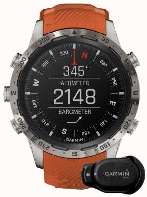 Garmin MARQ Adventurer Performance Edition | Brown Leather and Black Rubber Strap 010-02567-31