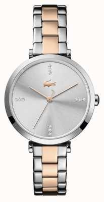 Lacoste | Women's | Geneva | Two-Tone Steel Bracelet | Silver/White Dial | 2001143