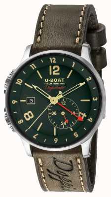 U-Boat 1938 Doppiotempo Dual Time Green Dial 8500