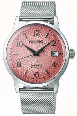 Seiko Limited Edition Presage | Steel Mesh Bracelet | Pink Dial SRPE47J1