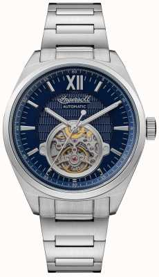 Ingersoll THE SHELBY Automatic Blue Dial Stainless Steel Bracelet I10902