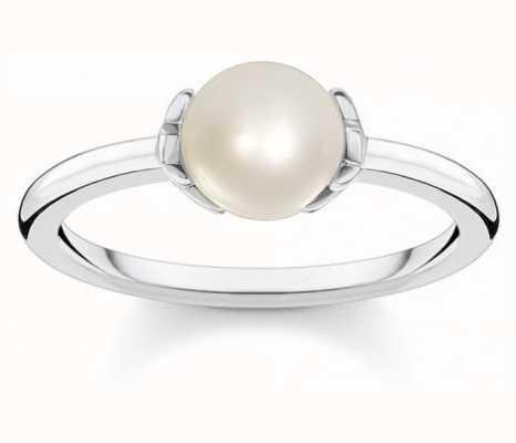 Thomas Sabo Sterling Silver Fresh Water Pearl Ring   EU 54 (UK N) TR2298-167-14-54