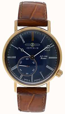 Zeppelin   LZ120 Rome Lady   Brown Leather Strap   Blue Dial   7137-3