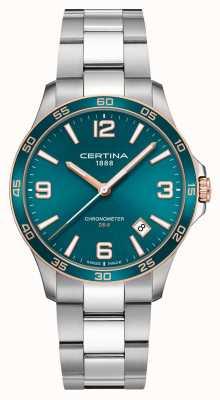 Certina DS-8 | Stainless Steel Bracelet | Green Dial | Quartz C0338512109700