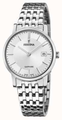 Festina Women's Swiss Made | Stainless Steel Bracelet | Silver Dial F20019/1