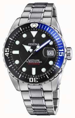 Festina Men's Automatic   Stainless Steel Bracelet   Black Dial F20480/3