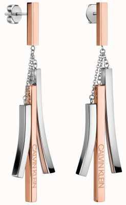 Calvin Klein Tinkle | Two-Tone Stainless Steel Drop Earrings KJCTME200100