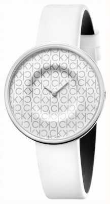 Calvin Klein Mania | Women's White Leather Strap | White Dial KAG231LX