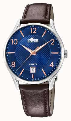 Lotus Men's Brown Leather Strap | Blue Dial L18402/E