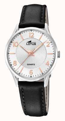 Lotus Men's Black Leather Strap | Silver Dial L18406/A