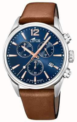 Lotus Men's Brown Leather Strap | Blue Chronograph Dial L18691/2