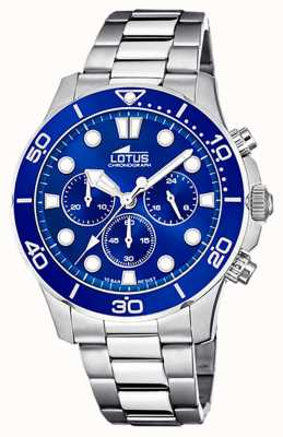 Lotus Men's Stainless Steel Bracelet | Blue Chronograph Dial L18756/1