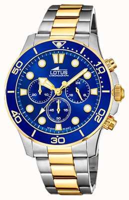 Lotus Men's Two-Tone Steel Bracelet   Blue Chronograph Dial L18757/1