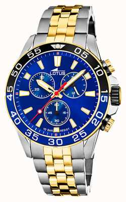 Lotus Men's Two-Tone Steel Bracelet | Blue Chronograph Dial L18767/1