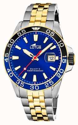 Lotus Men's Two-Tone Steel Bracelet   Blue Dial L18768/1