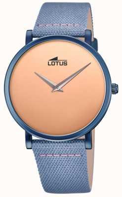 Lotus Men's Blue Leather Strap   Rose Gold Dial L18781/1