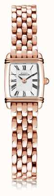Michel Herbelin Art Déco | Women's Rose Gold Plated Steel Bracelet | White Dial | Roman Numeral| 17438/PR08B
