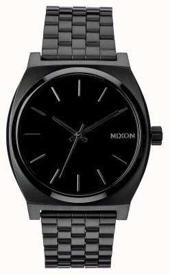 Nixon Time Teller | All Black | Black IP Steel Bracelet | Black Dial A045-001-00