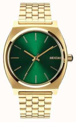 Nixon Time Teller | Gold / Green Sunray | Gold IP Steel Bracelet | Green Dial A045-1919-00