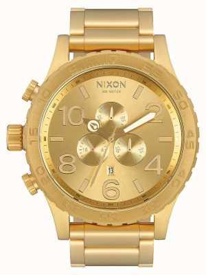 Nixon 51-30 Chrono | All Gold | Gold IP Bracelet | Gold Dial A083-502-00