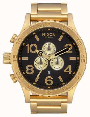 Nixon 51-30 Chrono | All Gold / Black | Gold IP Bracelet | Black Dial A083-510-00