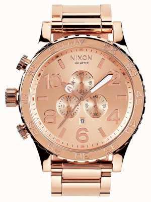 Nixon 51-30 Chrono | All Rose Gold | Rose Gold IP Bracelet | Rose Gold Dial A083-897-00