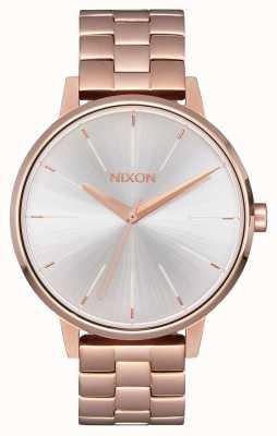 Nixon Kensington | Rose Gold / White | Ross Gold IP Bracelet | Silver Dial A099-1045-00