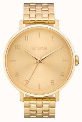 Nixon Arrow | All Gold | Gold IP Steel Bracelet | Gold Dial A1090-502-00