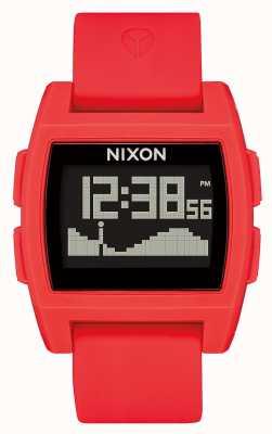 Nixon Base Tide | Red | Digital | Red silicone Strap A1104-200-00