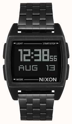 Nixon Base | All Black | Digital | Black IP Steel Bracelet | A1107-001-00