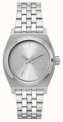 Nixon Medium Time Teller | All Silver | Stainless Steel Bracelet | Silver Dial A1130-1920-00