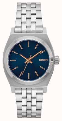 Nixon Medium Time Teller | Navy / Rose Gold | Stainless Steel Bracelet | Navy Dial A1130-2195-00