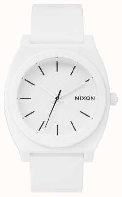 Nixon Time Teller P | Matte White | White Silicone Strap | White Dial A119-1030-00