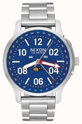 Nixon Ascender | Silver / Blue | Stainless Steel Bracelet | Blue Dial A1208-722-00