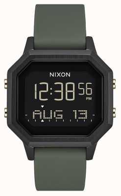 Nixon Siren SS | Black / Fatigue | Digital | Black Silicone | A1211-178-00
