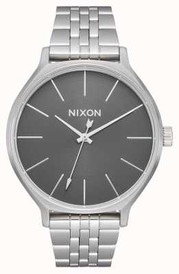 Nixon Clique | All Silver / Grey | Stainless Steel Bracelet | Silver Dial A1249-2762-00