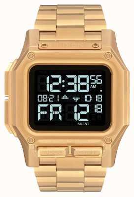 Nixon Regulus SS | All Gold | Digital | Gold IP Steel Bracelet | A1268-502-00