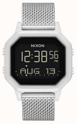 Nixon Siren Milanese | All Silver | Digital | Stainless Steel Mesh Bracelet A1272-1920-00