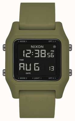 Nixon Staple | Olive | Digital | Olive Green Silicone Strap A1309-333-00