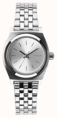 Nixon Small Time Teller | All Silver | Stainless Steel Bracelet Silver Dial A399-1920-00