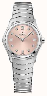 EBEL Women's Sport Classic | Stainless Steel Bracelet | Pink Galvanic Dial 1216444A