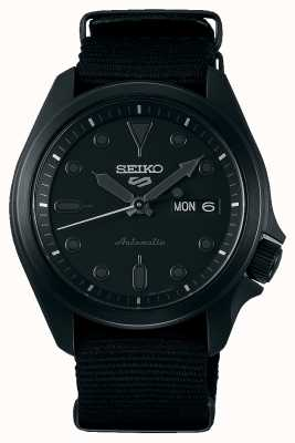 Seiko 5 Sports | Black IP Plated Case | Black NATO Strap SRPE69K1