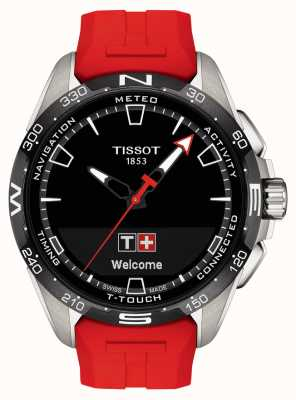 Tissot T-Touch Connect Solar | Red Silicone Strap T1214204705101