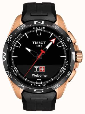 Tissot T-Touch Connect Solar   Black Silicone Strap T1214204705102