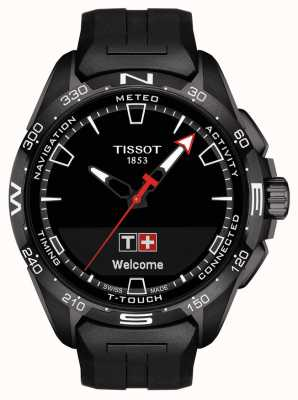 Tissot T-Touch Connect Solar   Black Silicone Strap T1214204705103