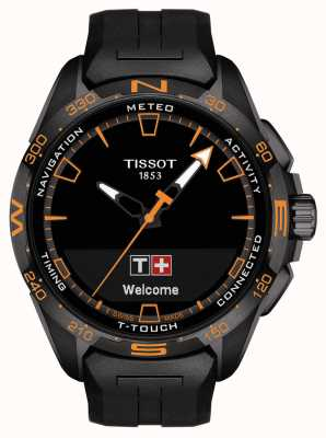 Tissot T-Touch Connect Solar   Black Silicone Strap T1214204705104